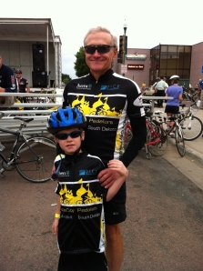 Tom Dice and Grandson, Max.  Palace City Pedaler Stalwarts