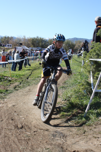 Team Alchemist rider, Max Kreidl, racing in the Boulder Cup