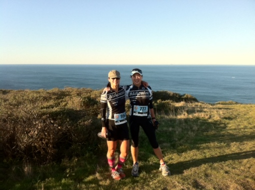 Ryn and Cindi after running the Marin Headlands 50k trail run