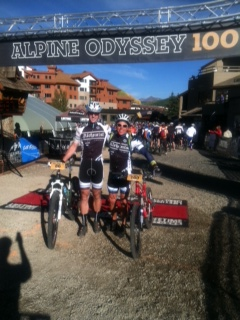 Ken and Tom at the Alpine Odyssey finish