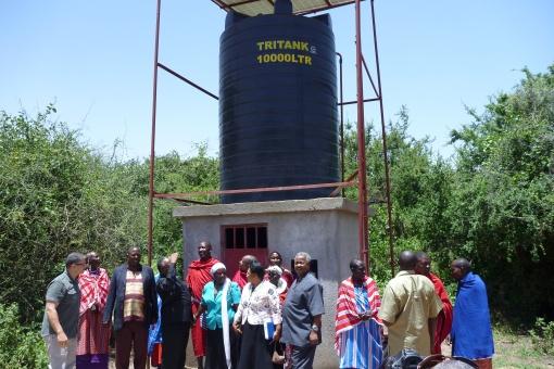 Solar Powered Water Storage Tank