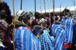 Walking in with the Masaai greeting party