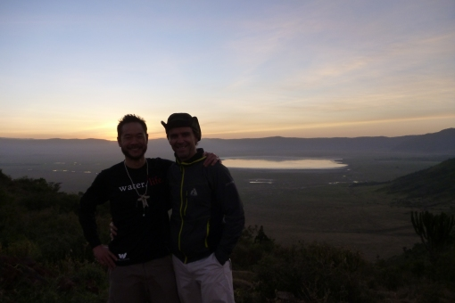 Stu and I on the Ngorongora Rim