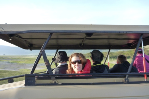 Jenn enjoying the Safari