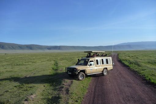 Safari trucks pop the top for 360 views