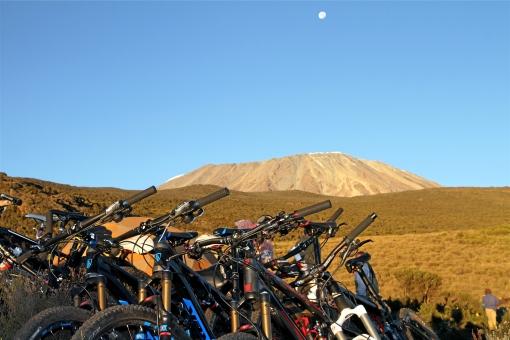 Bikes ready for Kili