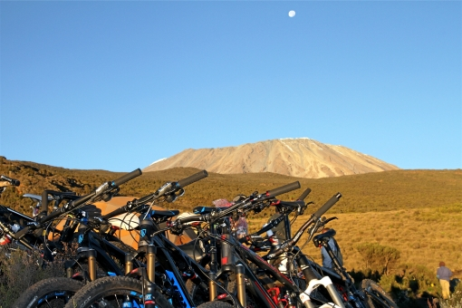 Bikes ready for Kili