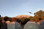 Camping below Kili