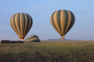 Hot Air Balloons over the Serengetii