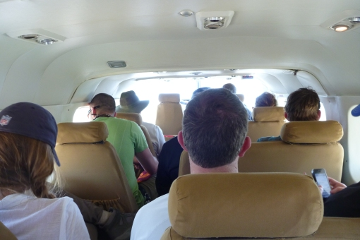12 passenger Cessna for the ride back to Arusha.