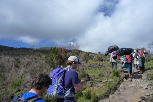 Day 2 hike. Kili in the background
