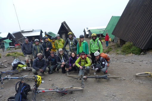 2013 Kilimanjaro Summit Team.  This was the first ever sanctioned ride on Kili.