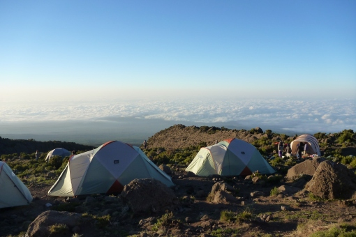 Horombo camp.  Like camping in Cloud City