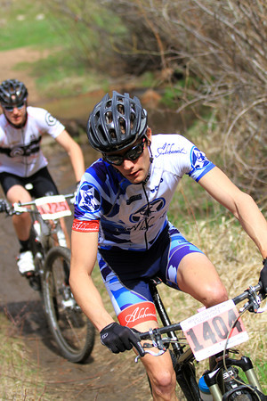 Mike S. focused and riding hard