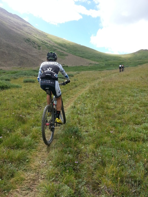 Riding up French Pass