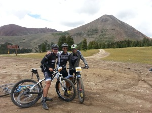 Disco, Chris, and I on top of Georgia Pass. Chris and Stuart crushed the climb and had to wait for me. They were chatting with tourists when I got there.