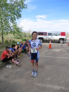 Laurie after completing 18 Hours of Fruita
