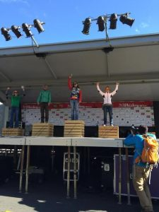 Michele B. rocking the SS podium.  Her time would have won the open masters division.  Boom!