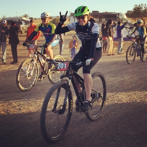 Kathleen looking fresh at the 12 hours in the Wild West.  She and her partner came in 4th place, narrowly missing the podium if not for a late crash.  Great job out there Kathleen!