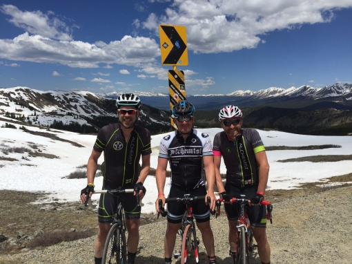 Alchemist Boys on top of the World.  Ride the Rockies 2015