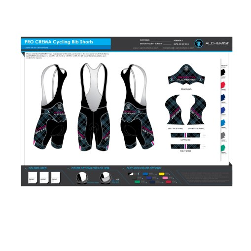 New, anatomic panels. Swiss Eschler Cold Black inners. Italian MITI sublimated panels, Italian EIT Carbon Performance Chamois, POwerband leg grippers