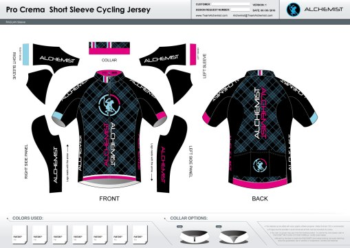 2016 Pro Crema Jersey. Circle Dry main body. Wings mesh contored side panels. Powerband arm cuffs, powerband rear gripper.